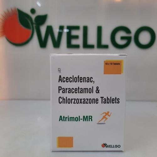 ACECLOFENAC PARACETAMOL CHLORZOXAZONE TABLETS PCD