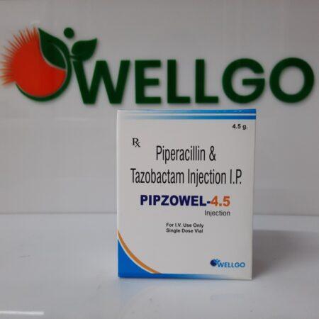 Piperacillin 4gm + Tazobactam 0.5gm injection