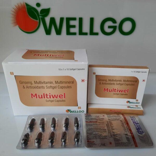GINSENG Multivitamin Multimineral antioxidant Softgel capsules