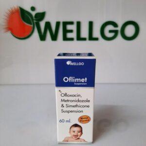 Ofloxacin-50MG+Metrindazole+120MG+Simithicon+10MG PCD