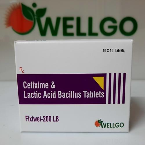 Cefixime 200 Mg +Lactic Acid Bacillus 60 Million Spores TABLETS