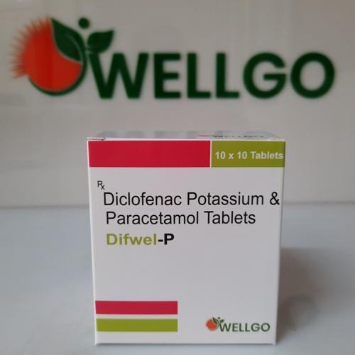 DICLOFENAC potassium 50Mg + Paracetamol 325Mg Tablets