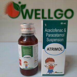 Aceclofenac 50mg+ Paracetamol 125mg SYRUP PCD